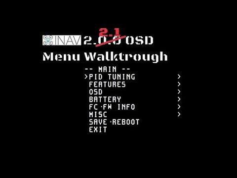 iNav 2 2 1 OSD menu updates