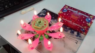 Свеча музыкальная в торт(Аленький цветочек Свечка на любой день рождения с музыкальным сопровождение http://sunrisenn.ru/, 2014-04-13T17:18:53.000Z)