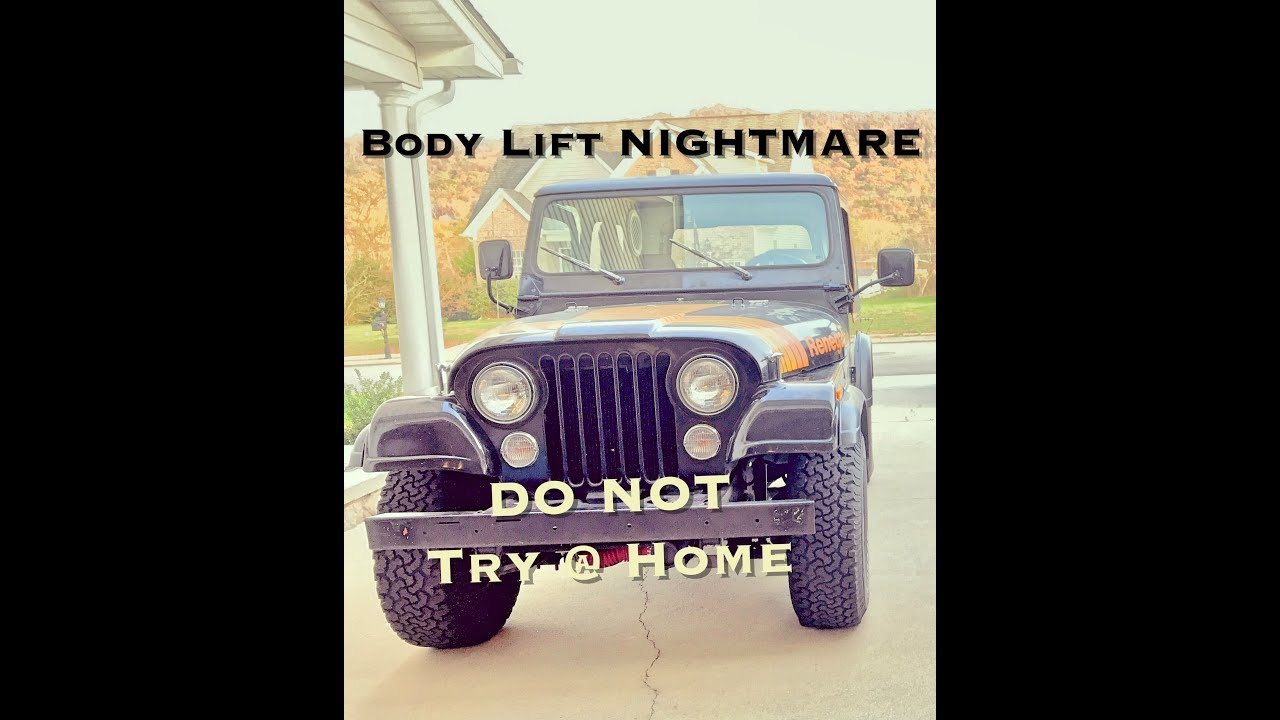 CJ-7 Jeep Build 1in Body Lift Installation (Part 3)