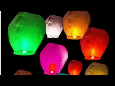 How To Make a Sky Lantern At Home - || Easy Paper tutorial ||