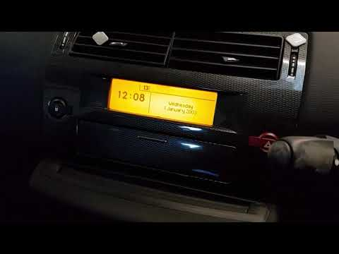 Citreon c4 clock and date reset