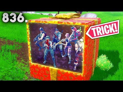 *SURPRISE!* 200 IQ  PRESENT TRICK!! - Fortnite Funny WTF Fails and Daily Best Moments Ep. 836