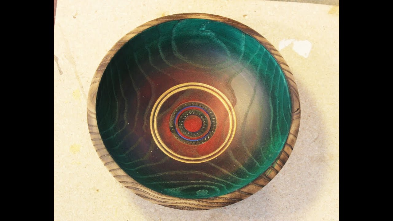 Decorating A Bowl Woodturning By Sam YouTube