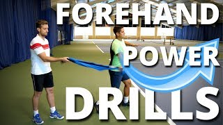 Tennis Forehand Power - 3 Drills on How To Hit Powerful Forehands