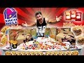 THE $100 TACO BELL MENU CHALLENGE! (12,000+ CALORIES)