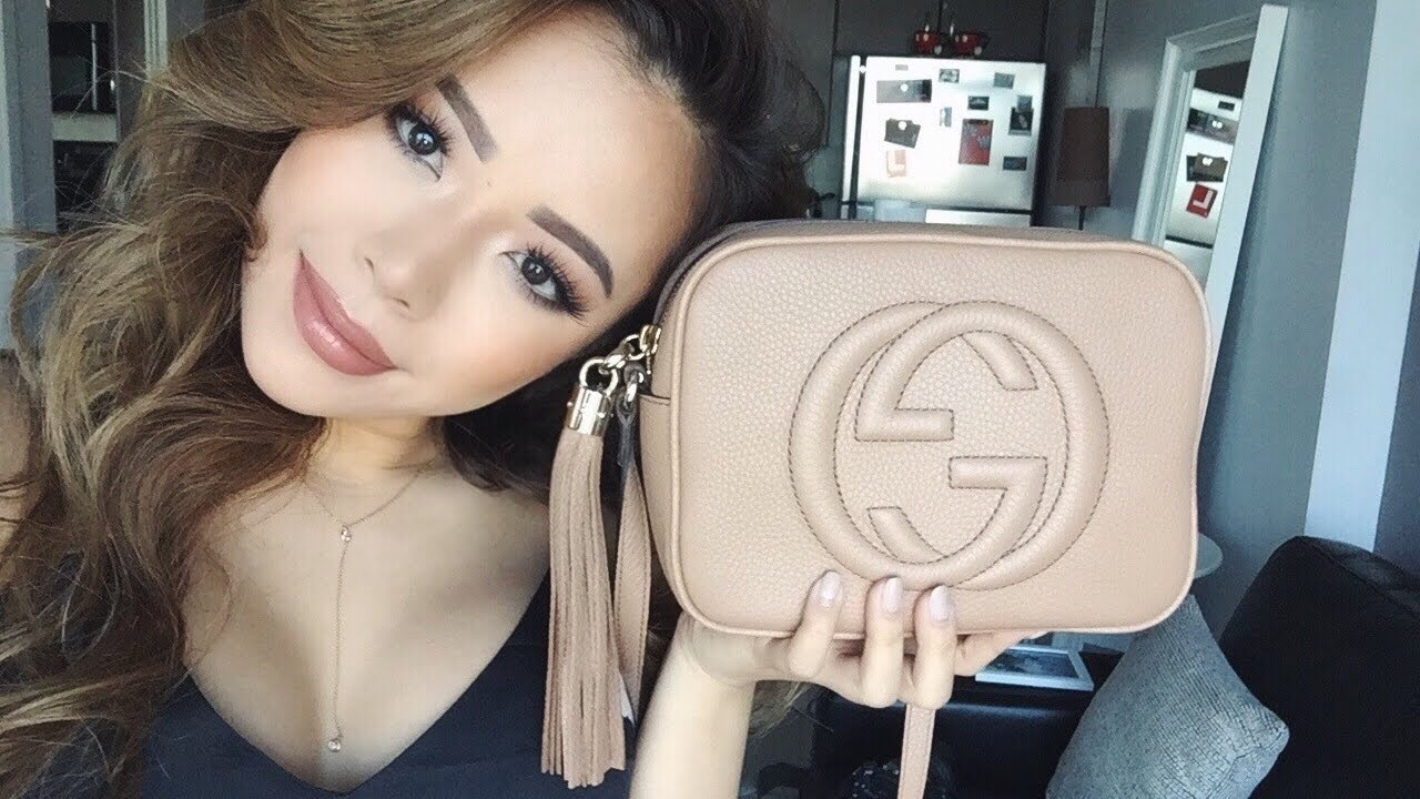 7fbdcf9ebb9b GUCCI SOHO DISCO BAG | UNBOXING | ROSE BEIGE | NANCI BAGUETTE - YouTube