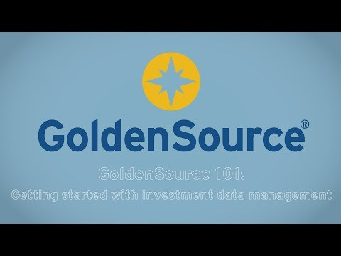GoldenSource 101: Getting started with investment data management as a service