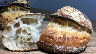 How to make White Sourdough Bread_Wild Yeast Starter Leaven_Country Bread Tartine Bread