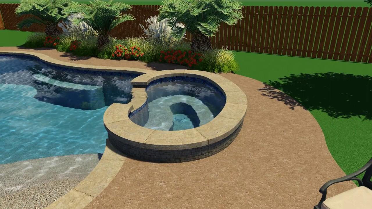 Rose Pool Design By Backyard Amenities