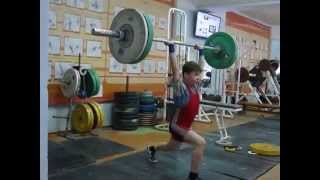 Хафизов Илья, 14 лет, вк 38. Толчок 55 кг