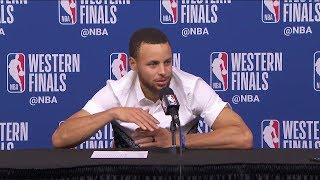 Stephen Curry Postgame Interview - Game 2 | Warriors vs Rockets | 2018 NBA West Finals