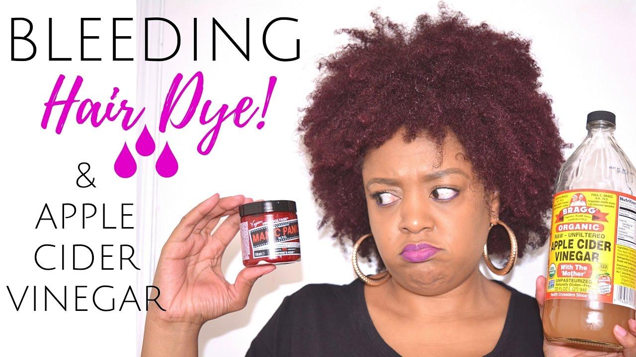Hair Dye Bleeding Disaster How I Stopped It Apple Cider Vinegar