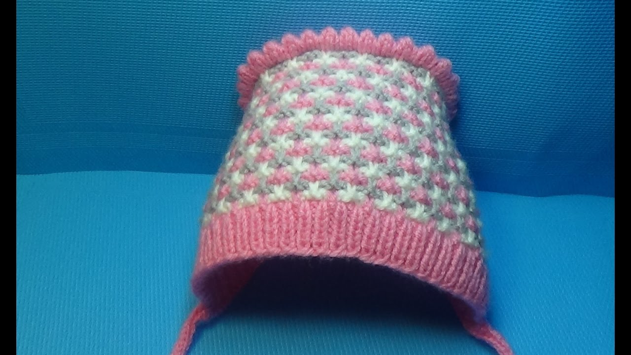 вязание спицами детская шапочка чепчик 143 Youtube
