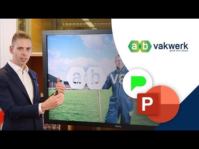 Inspirerende Bedrijfspresentatie AB Vakwerk | Portfolio | PPT Solutions