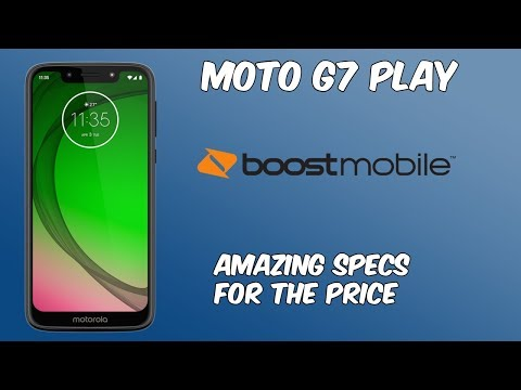 Moto G7 Play New Boost Mobile Phone// Great Specs