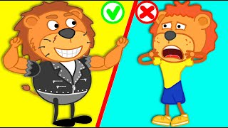 Lion Family | Lion Exercises and learns | Cartoon for Kids