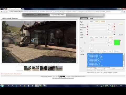 how to customize default crosshair cs go