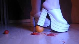 Buffalo High Heels Crush Tomaten Orange Crush Bug