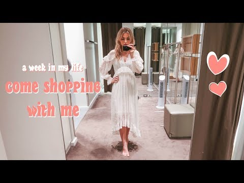 QUICK HAIR STYLE FOR BANGS + TRY ON COME SHOPPING WITH ME | Vlog