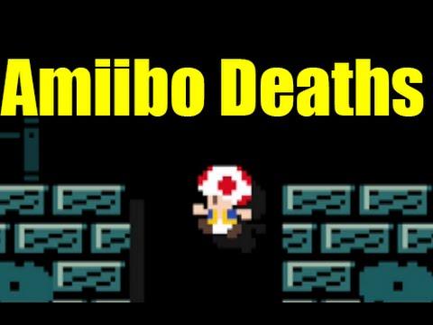 All 100 Amiibo Costumes Death Sounds In Super Mario Maker