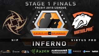 NIP vs Virtus Pro - Map 1 - Inferno (FACEIT 2015 League Stage 1 Finals)(Play on FACEIT for free: http://www.faceit.com FACEIT on Twitter: http://www.twitter.com/faceit FACEIT on Facebook: https://www.facebook.com/FaceitCommunity ..., 2015-05-03T19:33:57.000Z)