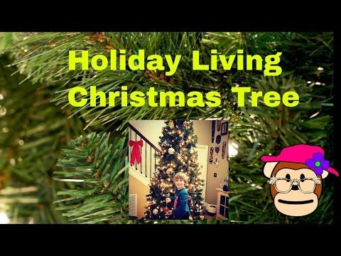 Holiday Living Christmas Tree.Christmas Tree Holiday Living Lowes Youtube