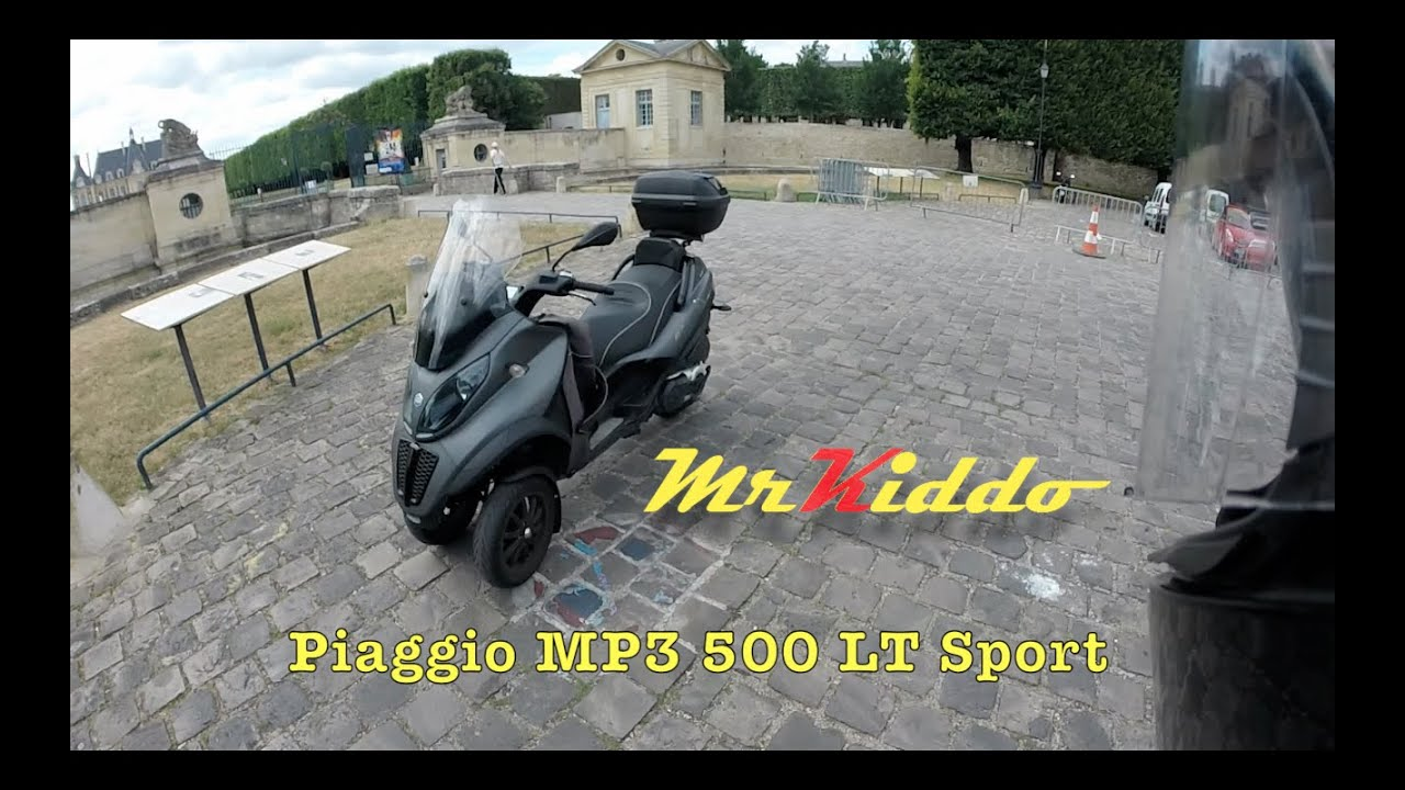 test riding the piaggio mp3 500 lt sport youtube. Black Bedroom Furniture Sets. Home Design Ideas
