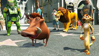Grand Theft Auto V Mods - TIMON & PUMBAA from THE LION KING MOD for GTA 5