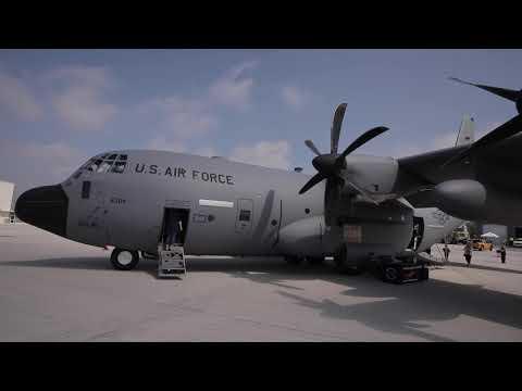 Hurricane Hunter WC-130J walkaround at NOAA East Coast Hurricane Awareness Tour at HIA