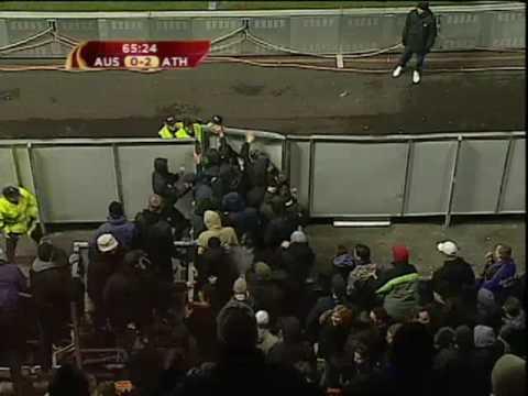 Nazis provocan incidentes en Viena. Athletic. Fútbol. UEFA