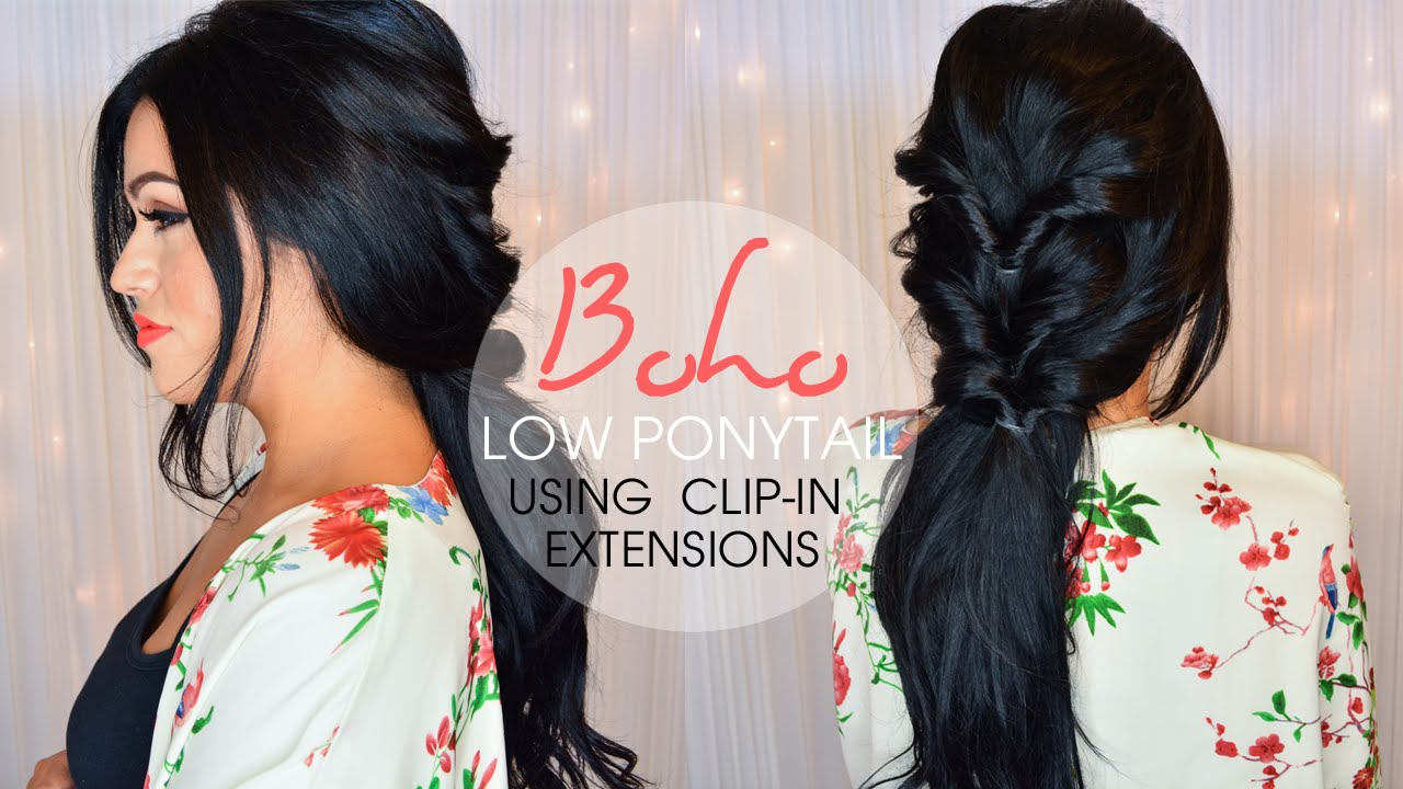 Boho Low Ponytail Hairstyle Luxury For Princess Youtube