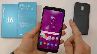 Unboxing+considerazioni Samsung Galaxy J6 2018 J600Fn+ cover originale Dual Layer