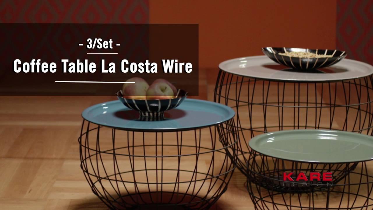 KARE Design Coffee Table La Costa Wire Set YouTube - Costa coffee table