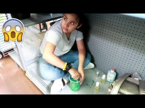 SLIME A ESCONDIDAS EN WALMART | Slime en Secreto en  el Supermercado