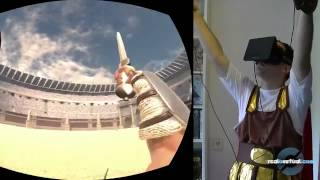 Gladiator   Spartacus en el Oculus Rift  Oculus Maximus. Очки 3 Д Реальности в игре Gladiator