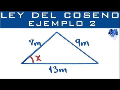 Ley Del Coseno | Ejemplo 2 | Encontrar Un ángulo