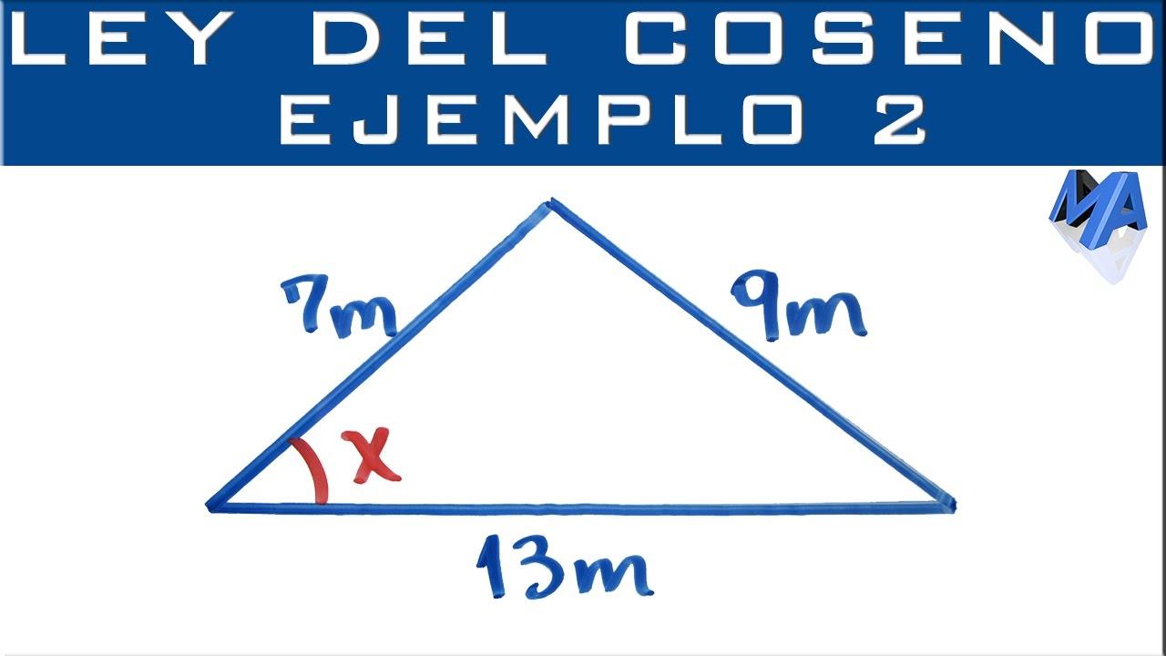 Ley Del Coseno Ejemplo 2 Encontrar Un ángulo Youtube