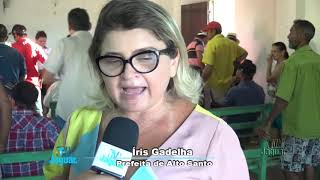 """Prefeita Iris Gadelha fala do importante impacto social e econômico que a injeção de recursos através do programa """"fomento mulher""""."""