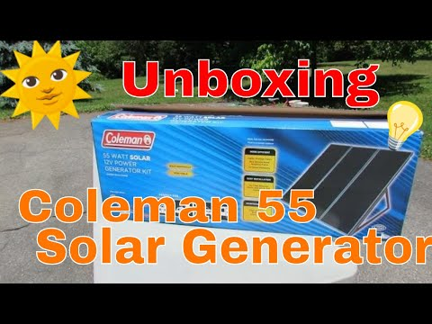 Coleman 55 Watt Solar Generator Kit Unboxing