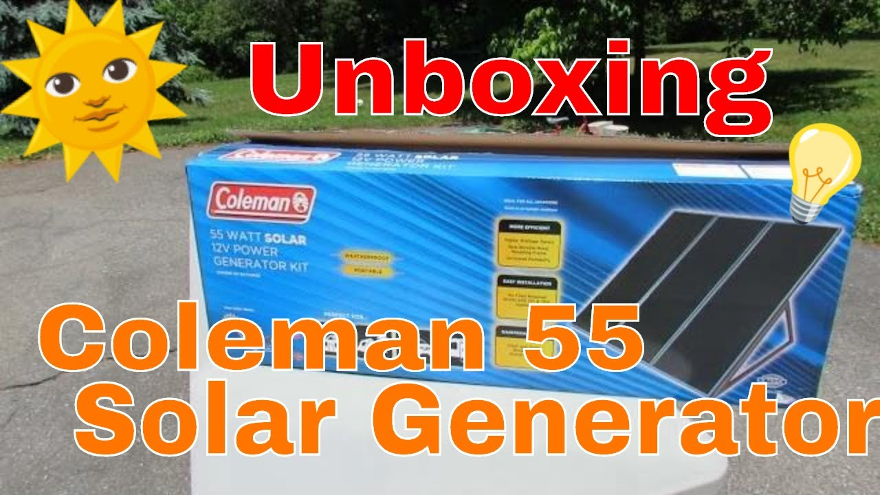 Coleman 55 Watt Solar Generator Kit Unboxing Youtube