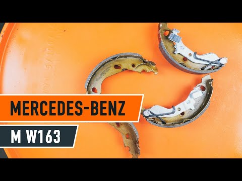 How to replace handbrake shoes on MERCEDES-BENZ M W163 TUTORIAL | AUTODOC