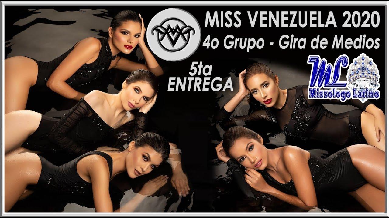 Miss Venezuela 2020 - 5ta Entrega / 4to Grupo Gira de Medios