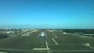 Piper Seneca PA34-200 HARD LANDING CRASH with prop strike gear up Daytona Beach KDAB