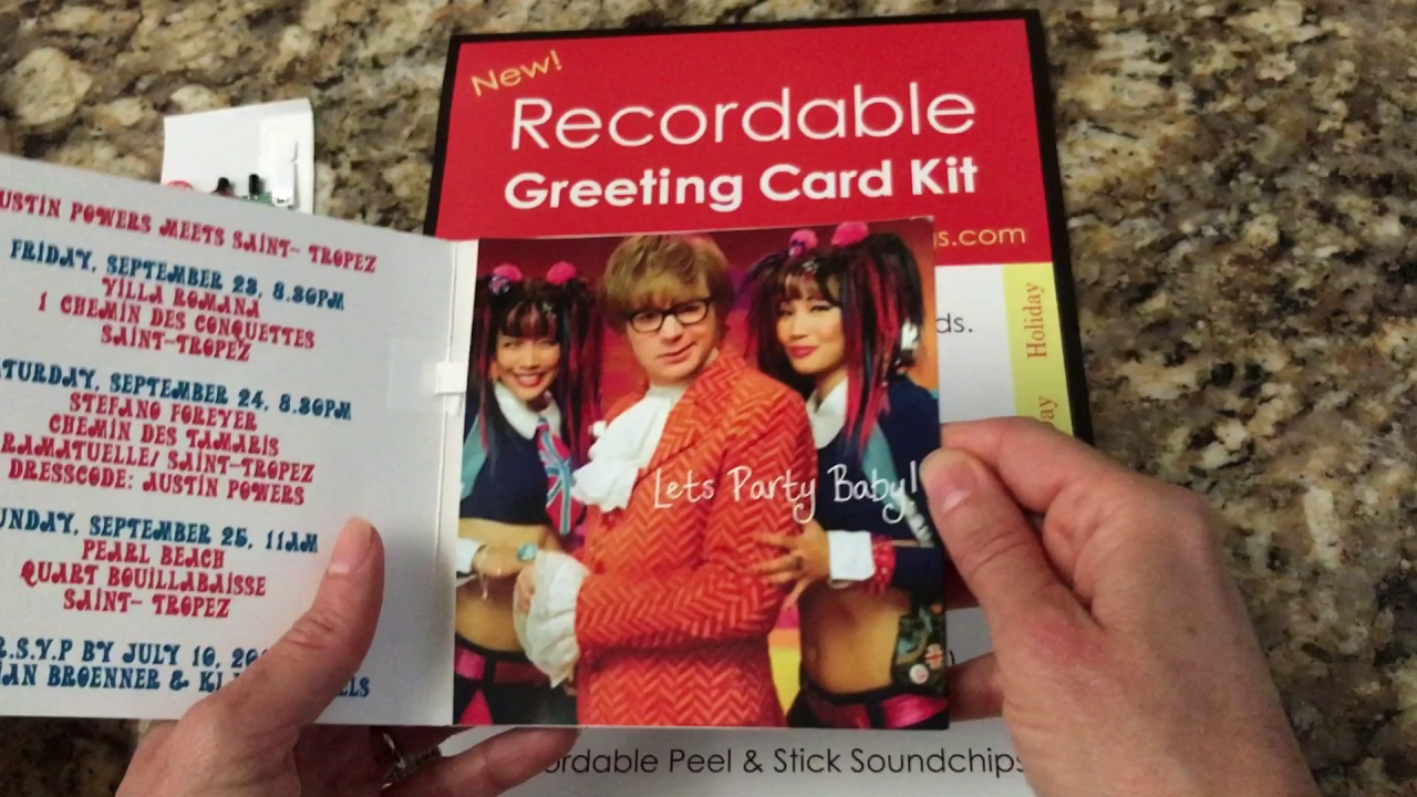 Diy Recordable Greeting Cards By Sound Expressions Llc Youtube