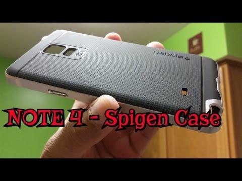 best sneakers 8ea96 2645d Samsung Galaxy Note 4 Silver Neo Hybrid Spigen Case