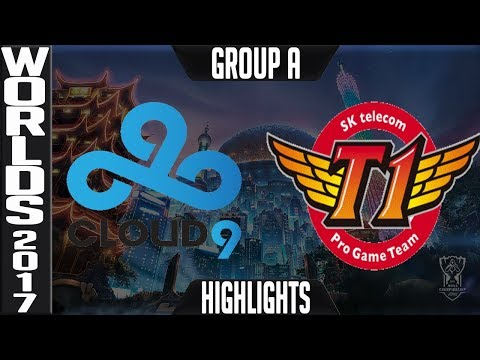 C9 vs SKT Highlights | 2017 World Championship Day 8 Group A Worlds 2017 Cloud9 vs SK Telecom T1