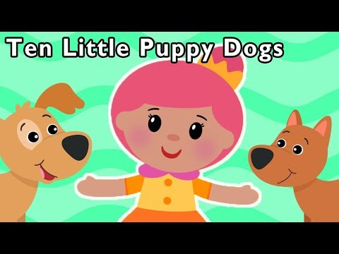 Ten Little Puppy Dogs And More New Counting Animals Song Nursery