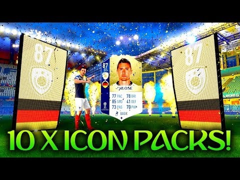 *NEW* WORLD CUP ICONS! 10 X GUARANTEED ICON SBC PACKS! FUT 18 WORLD CUP