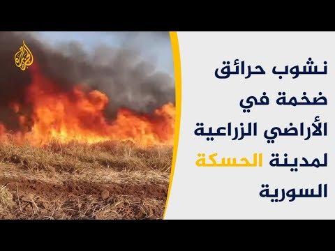 حرائق ضخمة تجتاح الأراضي الزراعية شرق سوريا  - نشر قبل 2 ساعة