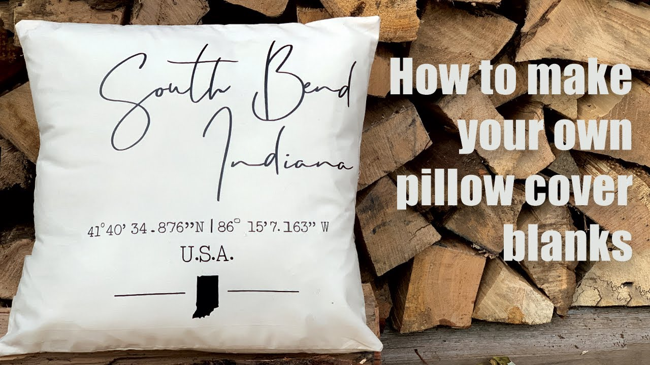 envelope style pillow cover how to make your own pillow blanks for iron on and embroidery